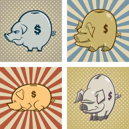 Vector Piggy Banks