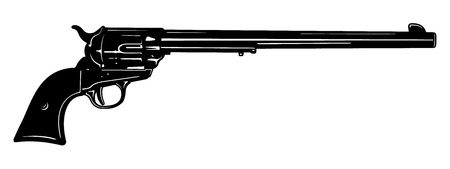 Vector Long Barrel Pistol Stock Vector - 12093426