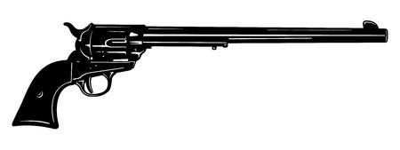 firearms: Vector pistola ca��n largo Vectores