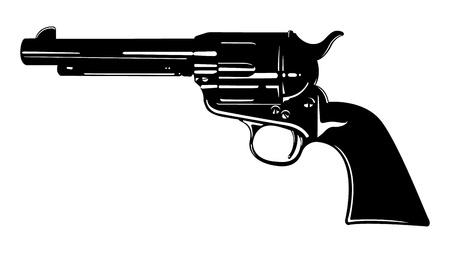 벡터 골동품 권총 두 일러스트