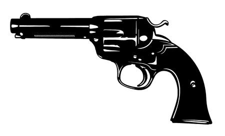 Vector Antique Pistol Three Ilustração