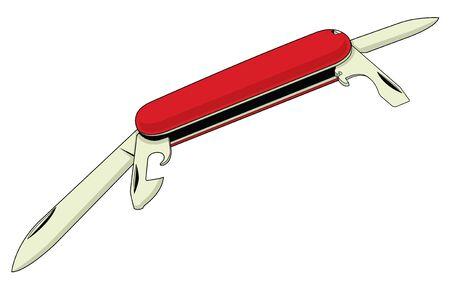 ouvre boite: Couteau de poche Vector Trois