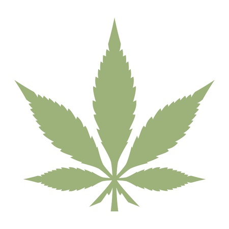 marijuana: Pot Leaf Illustration