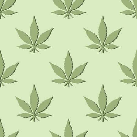 marijuana leaf: Pot Leaf Seamless Pattern Illustration