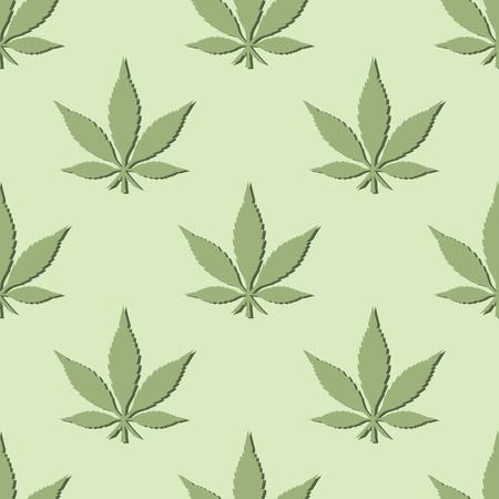 cannabis leaf: Pot Leaf Seamless Pattern Illustration