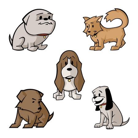 ベクトル漫画の犬