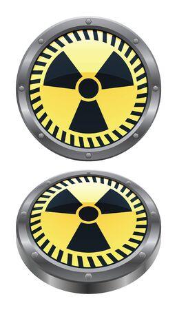 radioactive: Radioactive Icon Illustration