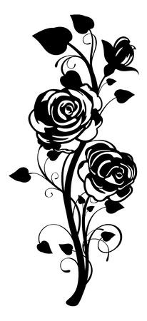 バラ飾りをベクトルします。  イラスト・ベクター素材
