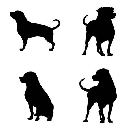 Rottwiler Silhouettes