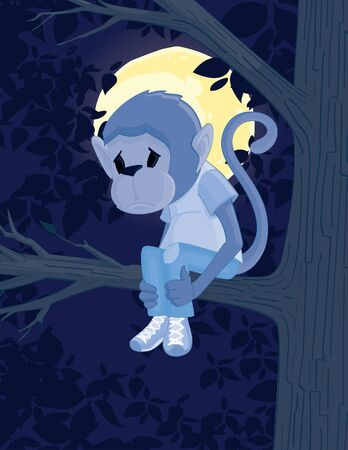 Sad Monkey Vector