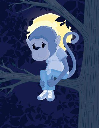 Sad Monkey Çizim