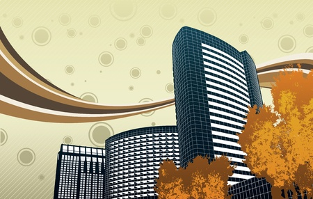 city building: San Diego Background Design Illustration