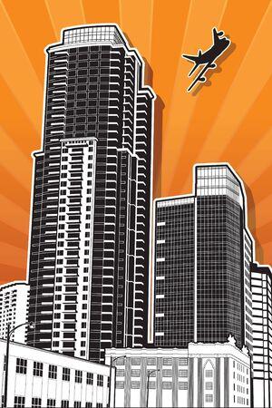 san rays: San Diego Buildings Three Illustration