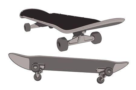 벡터 스케이트 보드