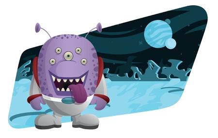 Space Monster Ilustração