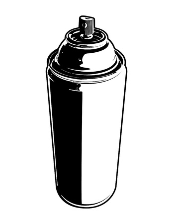 verfblik: Spuitbus Stock Illustratie