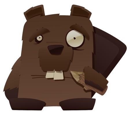 Strange Beaver Stock Vector - 12097319
