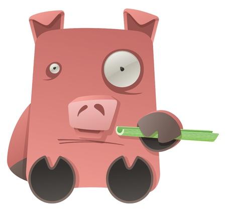 스탄 돼지 일러스트