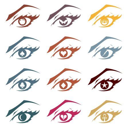 Strange Eyes Stock Vector - 12097295