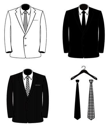 ベクトルのスーツのコート (1色)  イラスト・ベクター素材