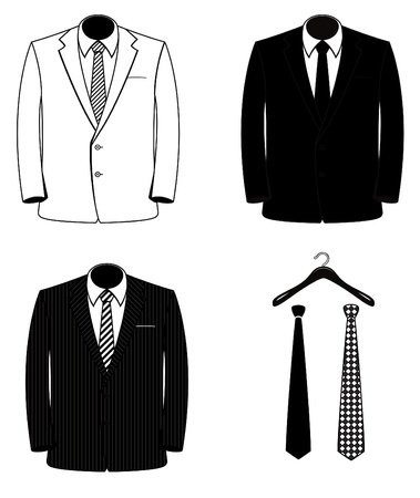 suit tie: Vector Suit Coats (One Color)