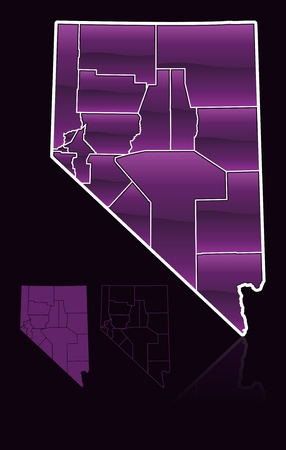 counties: Counties of Nevada Illustration