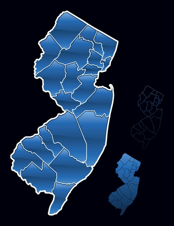 new jersey: Counties of New Jersey Illustration