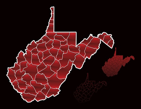 counties: Counties of West Virginia Illustration