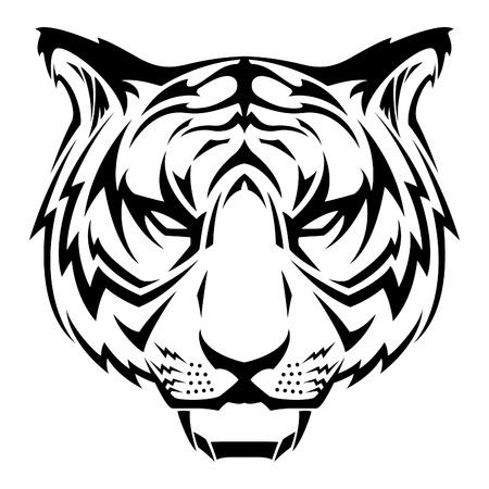 호랑이 문신 디자인 일러스트