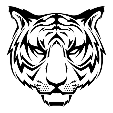 Tiger Tattoo Design Vector