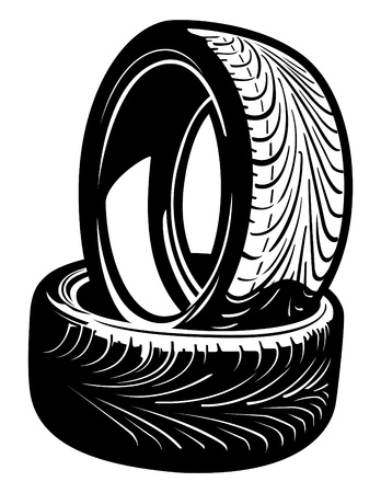tyre tread: Vector Tires Illustration