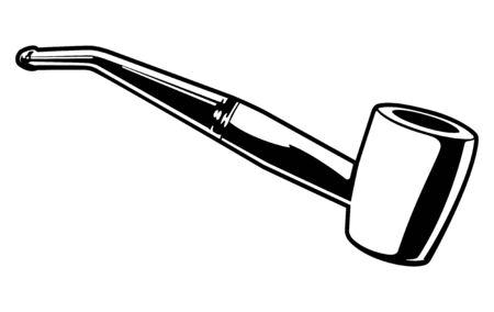 pijp roken: Vector pijp roken Stock Illustratie