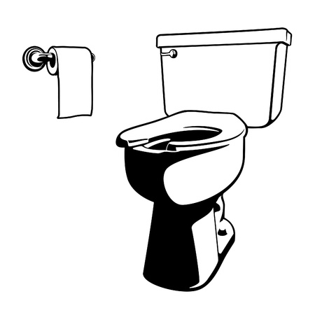 toilet bowl: Vector Toilet