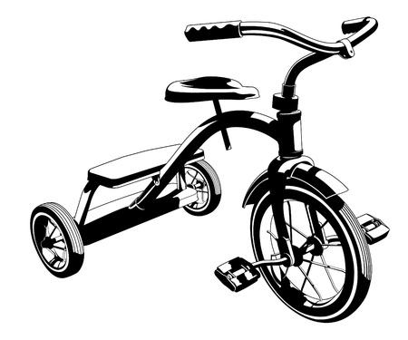 벡터 세발 자전거