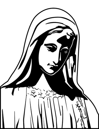 vierge marie: Vierge Marie Vecteur