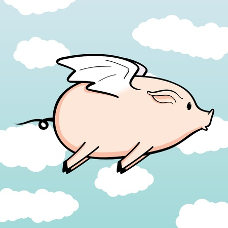 Flying Pig Stock Vector - 12093487