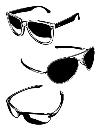 Sunglasses Vectors Two Stock Vector - 12093462