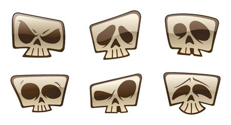 macabre: Skull Icons Illustration