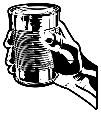 tin: Hand With Can