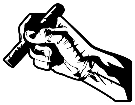 cigars: Hand With Cigar Illustration
