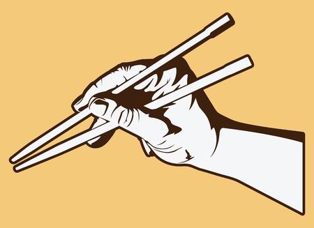 chopstick: Hand Holding Chopsticks