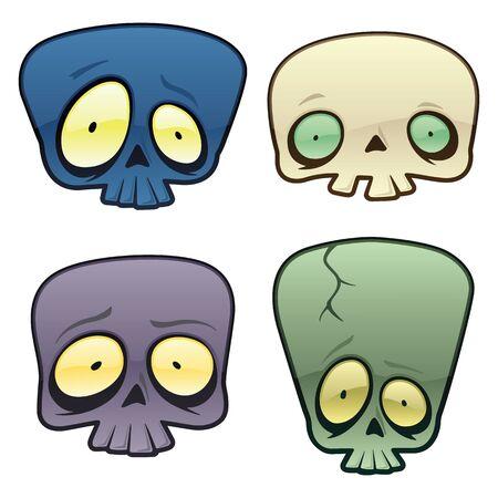 Goofy Vector Skulls.