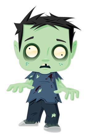 Zombie Kid. Dit is een vector illustratie een kleine zombie kind.