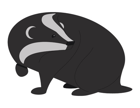 critters: Badger Two. illustration of a Badger. It was created in Adobe Illustrator and was saved out as an  No transparencies and gradients were used.