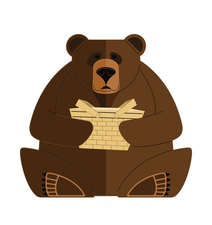 Bear with a Basket  illustration of a Bear with a Basket  It was created in Adobe Illustrator and was saved out as an   file  No transparencies and gradients were used
