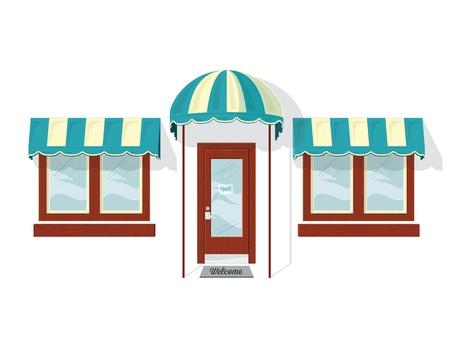 store window: Store Front Deur en Windows.