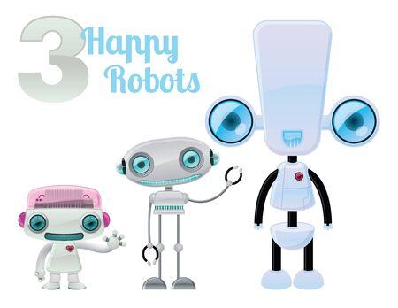 Three Happy Robots