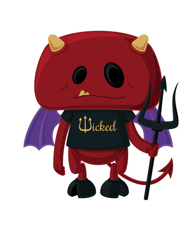 hellish: Little Devil  Vector cartoon