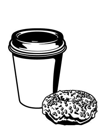 Caffè e ciambella Archivio Fotografico - 40314499