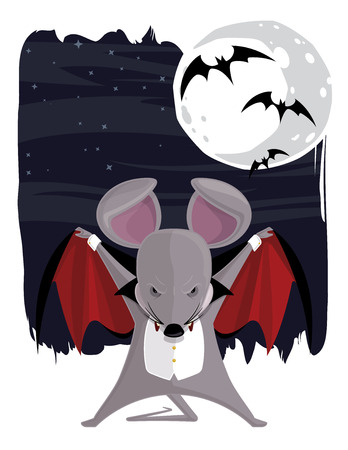 cute animal cartoon: The Vampire Mouse